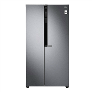 buy LG GCB247KQDV 679Ltr Side-By-Side Refrigerator (Dazzle Steel)