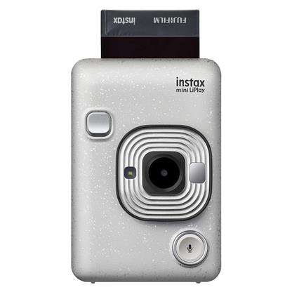 buy FUJIFILM INSTAX CAMERA MINI LIPLAY PLUS STONE WHITE :Fujifilm