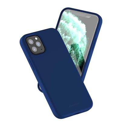 buy Stuffcool Silo Soft & Smooth Slimmest Back Case Cover for iPhone 12/12 Pro - Navy :Stuffcool
