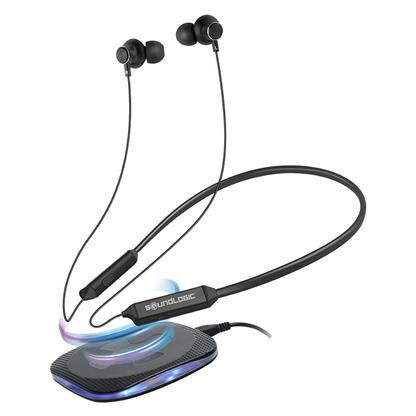 buy SOUNDLOGIC WIRELESS CHARGING BT NECKBAND BEB013TM :Soundlogic