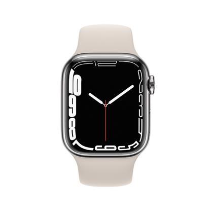 buy APPLE WATCH S7 41MM SIL SS STAR SP CEL MKHW3HN/A :Apple Watch