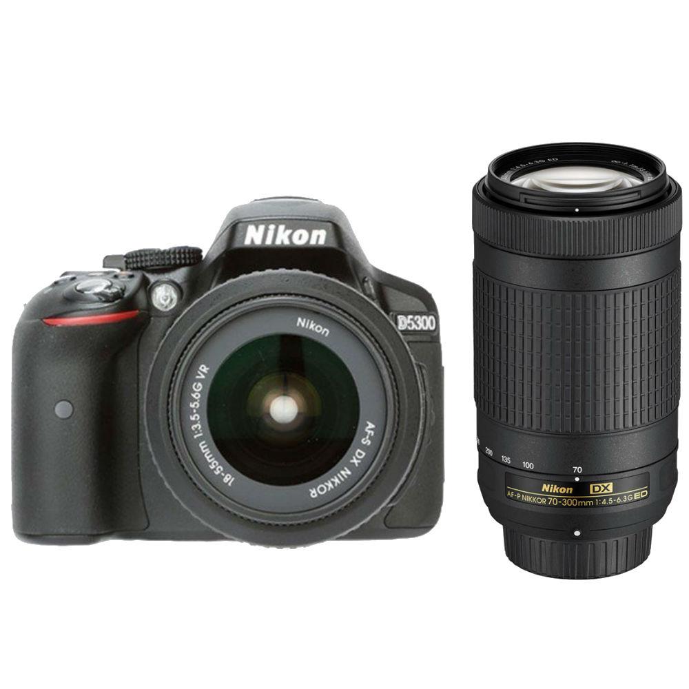 Nikon D5300 DSLR Camera (18-55+70-300MM) Price in India - buy Nikon