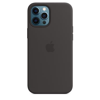 buy IPHONE 12 PRO MAX SILICONE CASE WITH MAGSAFE BLACK :Apple