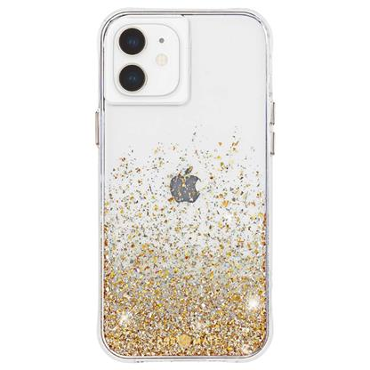 buy Case-Mate Twinkle Hard Back Case Cover for iPhone 12 Mini - Gold :Casemate