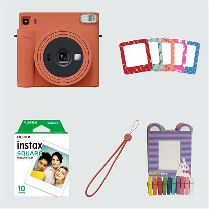 buy FUJIFILM INSTAX CAMERA SQ 1 STARTER KIT ORANGE :Fujifilm