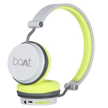 buy BOAT BT HEADPHONE ROCKERZ 410 GREY & GREEN :Boat
