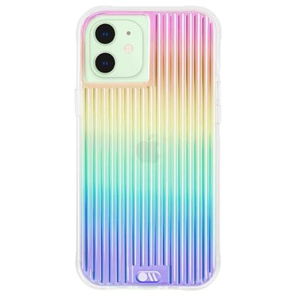 buy Case-Mate Tough Groove Hard Back Case Cover for iPhone 12 Mini - Iridescent :Casemate