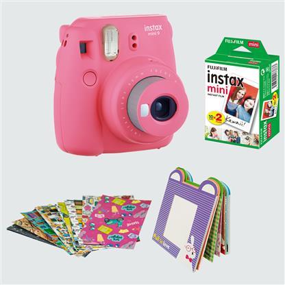 buy FUJIFILM INSTAX CAMERA MINI 9 BUNDLE PACK FLAMINGO PINK :Fujifilm