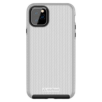 "buy Stuffcool Pine Unique Textured Dual Layer Hard Back Case Cover for Apple iPhone 11 Pro Max 6.5"" - Silver :Stuffcool"