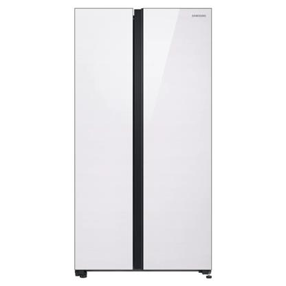 buy SAMSUNG RS72R50111L CLASSY WHITE (700) :Toughened Glass