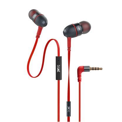 buy BOAT EARPHONE BASS HEADS 228 RED :Boat