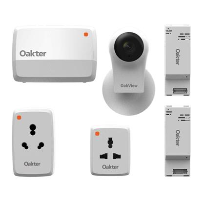 buy OAKTER Smart Home & Intelli-Cam Kit (Smart plugs, Quadra Smart Box and Oakview Smart Camera) :Smart Home Kit