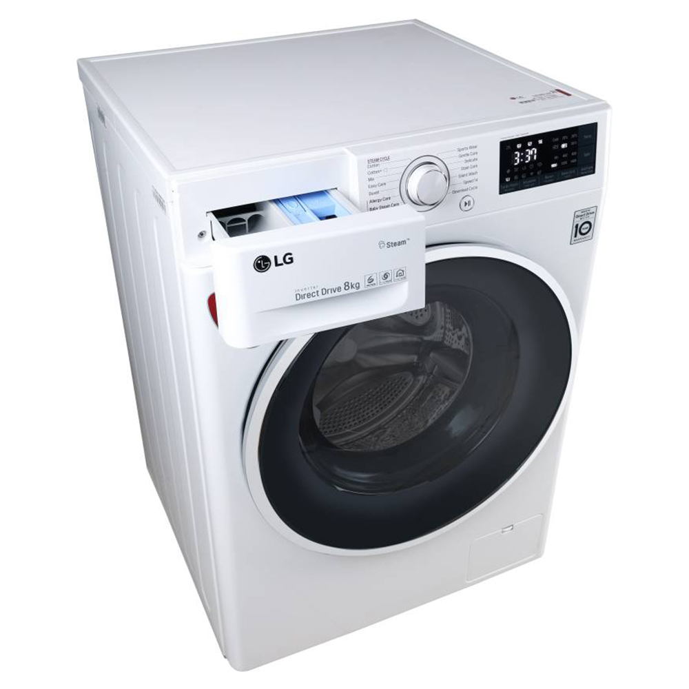 LG FHT1208SWW 8KG Fully Automatic Front Load Washing Machine (White