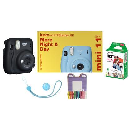 buy FUJIFILM INSTAX CAMERA MINI 11 STARTER KIT GRAY :Fujifilm