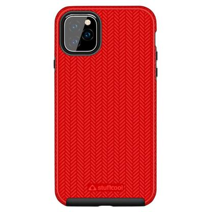 """buy Stuffcool Pine Unique Textured Dual Layer Hard Back Case Cover for Apple iPhone 11 Pro Max 6.5"""" - Red :Stuffcool"""