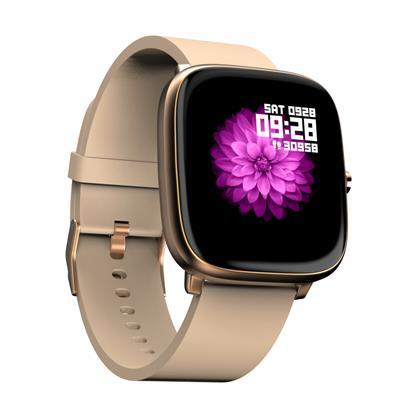 buy NOISE SMART WATCH COLORFIT QUBE BEIGE GOLD :Smart Watches & Bands