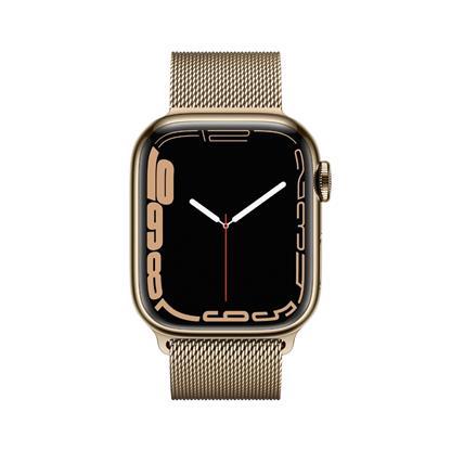 buy APPLE WATCH S7 41MM GLD SS CHRY SP CEL MKHY3HN/A :Apple Watch