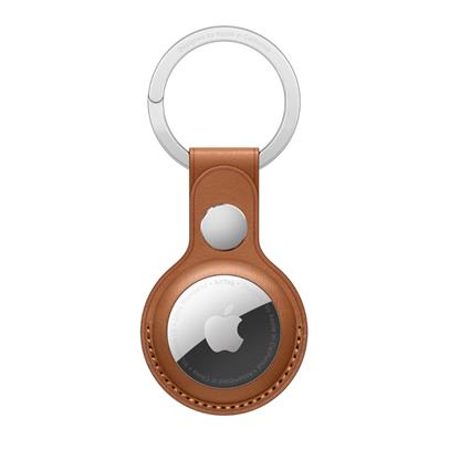 buy APPLE AIRTAG LEATHER KEY RING - SADDLE BROWN MX4M2ZM/A :Apple
