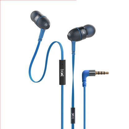 buy BOAT EARPHONE BASS HEADS 228 BLUE :Boat