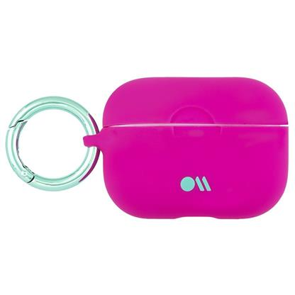 buy Case-Mate AirPods Pro Hookups Case Cover Silicone Compatible with Apple AirPods Pro - Fuschia :Casemate