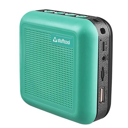 buy Stuffcool Theo Portable TWS (True Wireless Stereo) Bluetooth Speaker with Mic - Green :Stuffcool