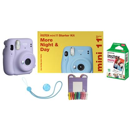 buy FUJIFILM INSTAX CAMERA MINI 11 STARTER KIT PURPLE :Fujifilm