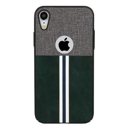 buy Stuffcool Eto Sport Stylish & Sporty PU Leather Back Case Cover for Apple iPhone XR - Grey / Dark Green :Stuffcool