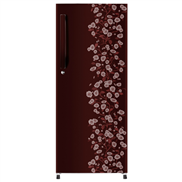 buy Haier HRD1954CRDE 195Ltr Direct Cool Refrigerator (Red Daisy)