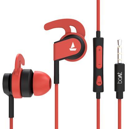 buy BOAT EARPHONE BASSHEADS 242 RED :Boat