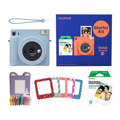buy FUJIFILM INSTAX CAMERA SQ 1 STARTER KIT BLUE :Fujifilm
