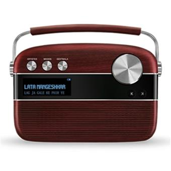 buy SAREGAMA CARVAAN MUSIC PLAYER CHERRYWOOD RED :Saregama