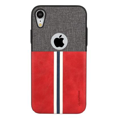 buy Stuffcool Eto Sport Stylish & Sporty PU Leather Back Case Cover for Apple iPhone XR - Grey / Red :Stuffcool