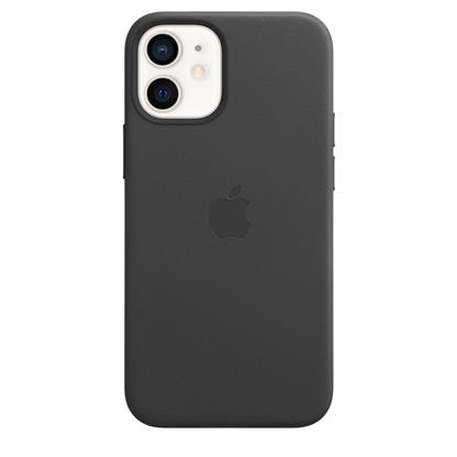 buy IPHONE 12 MINI LEATHER CASE WITH MAGSAFE BLACK :Apple