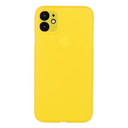 """buy Stuffcool Thins Ultra Slim Back Case Cover for Apple iPhone 11 6.1"""" - Yellow :Stuffcool"""