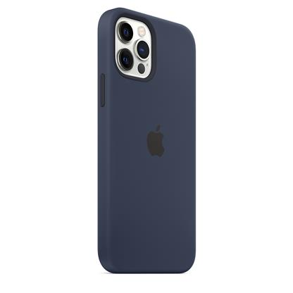 buy IPHONE 12 PRO SILICONE CASE WITH MAGSAFE DEEP NAVY :Apple