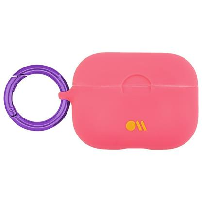 buy Case-Mate AirPods Pro Hookups Case Cover Silicone Compatible with Apple AirPods Pro - Living Coral Light Pink :Casemate