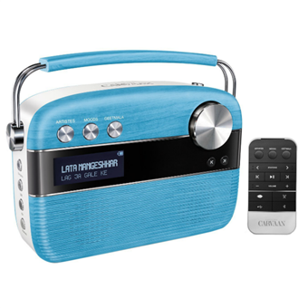 buy SAREGAMA CARVAAN MUSIC PLAYER PORCELAIN BLUE :Saregama