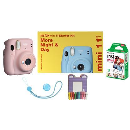 buy FUJIFILM INSTAX CAMERA MINI 11 STARTER KIT PINK :Fujifilm