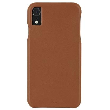 buy Case-Mate Barely There Leather Back Case Cover for Apple iPhone XR - Butterscotch :CASEMATE