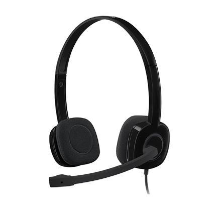 buy LOGITECH WIRED HEADPHONE WITH MIC H151 BLACK :Logitech