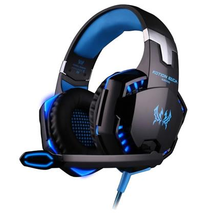 buy Kotion Each Over the Ear Headsets with Mic & LED - G2000 Edition (Black/Blue) :Cosmic Byte