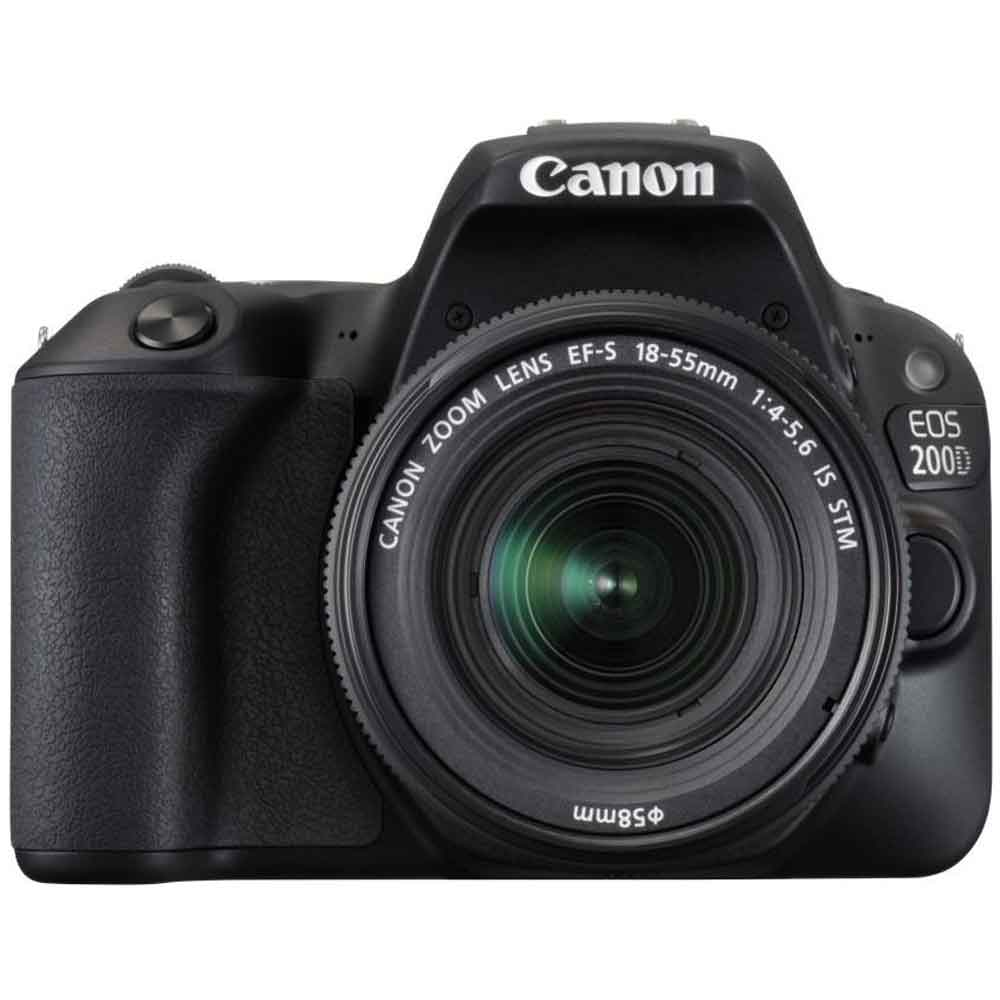 Canon EOS 200D DSLR Camera (18-55 + 55-250mm, Black) Price in India