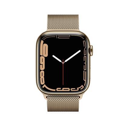 buy APPLE WATCH S7 45MM GOLD SS GD ML CEL MKJY3HN/A :Apple Watch