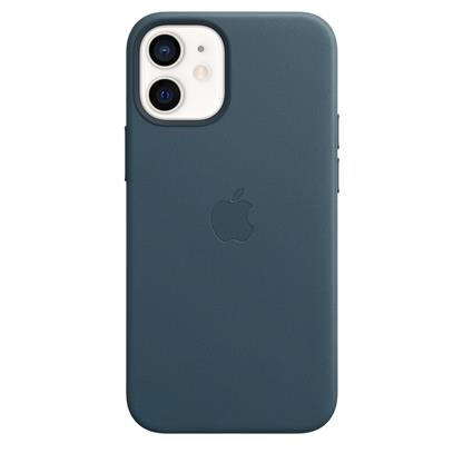 buy IPHONE 12 MINI LEATHER CASE WITH MAGSAFE BALTIC BLUE :Apple