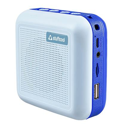 buy Stuffcool Theo Portable TWS (True Wireless Stereo) Bluetooth Speaker with Mic - Blue :Stuffcool