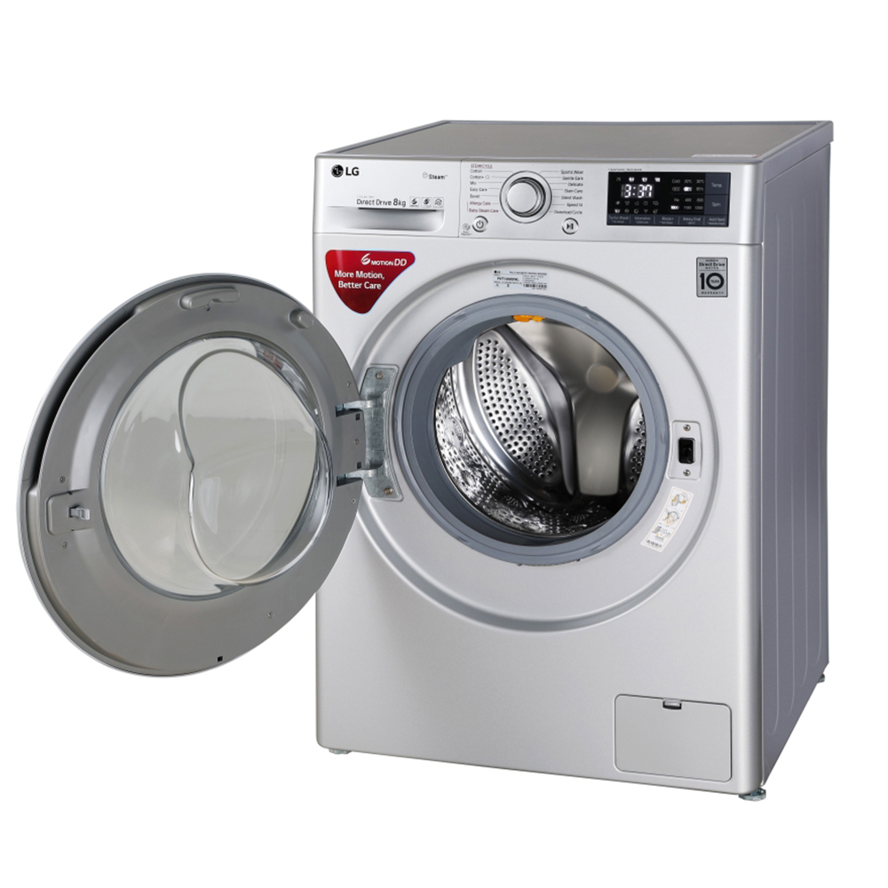 LG FHT1208SWL 8KG Fully Automatic Front Load Washing Machine