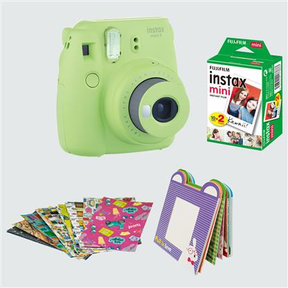 buy FUJIFILM INSTAX CAMERA MINI 9 BUNDLE PACK LIME GREEN :Fujifilm
