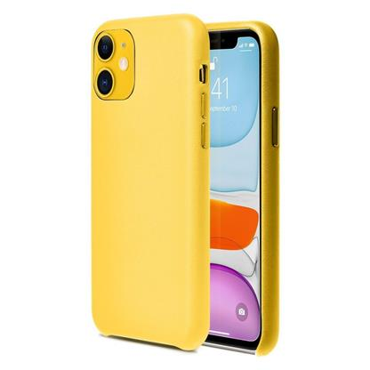 """buy Stuffcool Premier PU Leather Back Case Cover for Apple iPhone 11 6.1"""" - Yellow :Stuffcool"""
