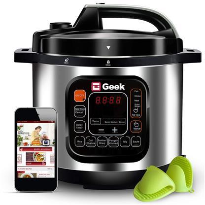 buy GEEK ROBOCOOK AUTOMATIC EPC WITH 11 PRESET MENU 8L NS BLACK :Rice Cooker
