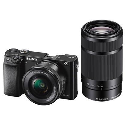 buy SONY DSLR CAMERA ILCE6000Y 16-50 + 55-210MM :23 MP - 24.9 MP